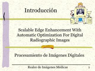 Procesamiento de Imágenes Digitales