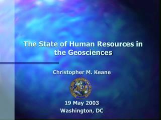 The State of Human Resources in the Geosciences