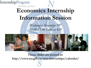 Economics Internship Information Session