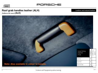 Roof grab handles leather (ALH)