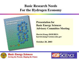 Presentation for Basic Energy Sciences  Advisory Committee Meeting Harriet Kung (DOE/BES)