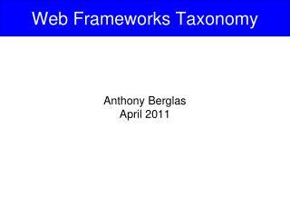 Web Frameworks Taxonomy