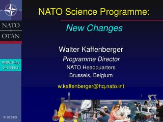 NATO Science Programme: New Changes