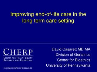 Improving end-of-life care in the long term care setting