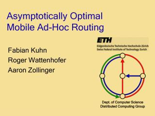 Asymptotically Optimal Mobile Ad-Hoc Routing