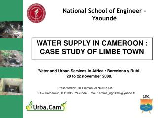 WATER SUPPLY IN CAMEROON : CASE STUDY OF LIMBE TOWN