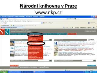 Národní knihovna v Praze  nkp.cz