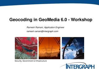 Geocoding in GeoMedia 6.0 - Workshop