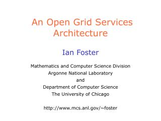 An Open Grid Services Architecture