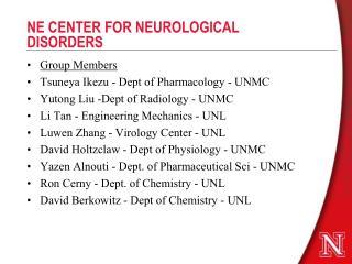 NE CENTER FOR NEUROLOGICAL DISORDERS