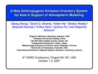 A New Anthropogenic Emission Inventory System for Asia in Support of Atmospheric Modeling
