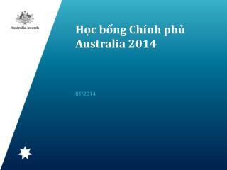 Học bổng Chính phủ Australia 2014