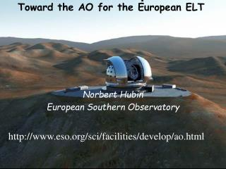 Toward the AO for the European ELT