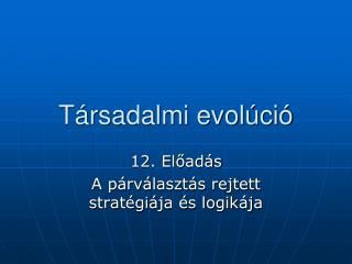 Társadalmi evolúció