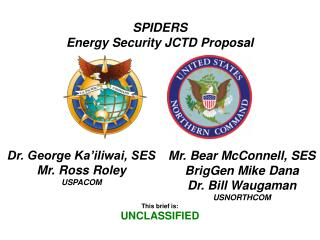 SPIDERS Energy Security JCTD Proposal