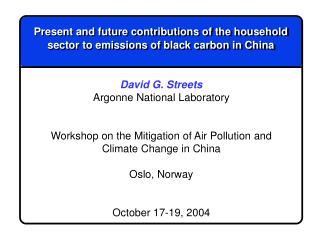 Present and future contributions of the household sector to emissions of black carbon in China