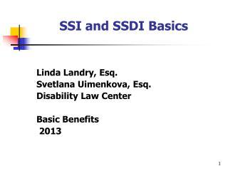 SSI and SSDI Basics