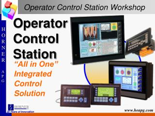 Operator Control Station Workshop