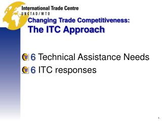 Changing Trade Competitiveness:  The ITC Approach
