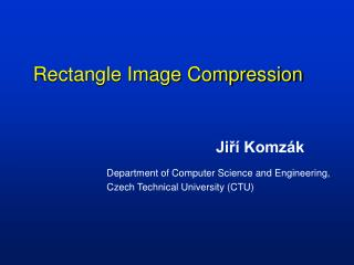 Rectangle Image Compression