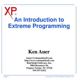 An Introduction to Extreme Programming
