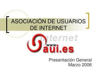 ASOCIACIÓN DE USUARIOS  DE INTERNET