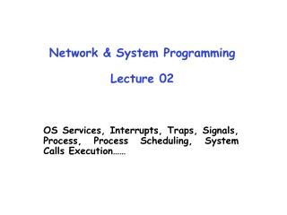 Network & System Programming Lecture 02