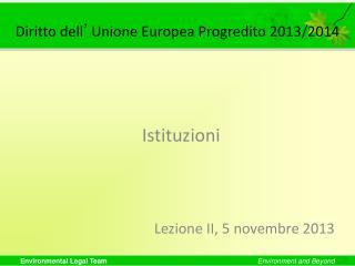 Diritto dell ' Unione Europea Progredito 2013/2014