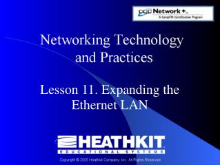 Lesson 11. Expanding the Ethernet LAN