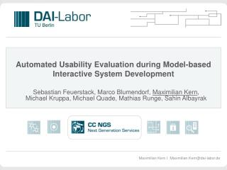 Automated Usability Evaluation during Model-based Interactive System Development