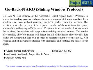 Go-Back-N ARQ (Sliding Window Protocol)