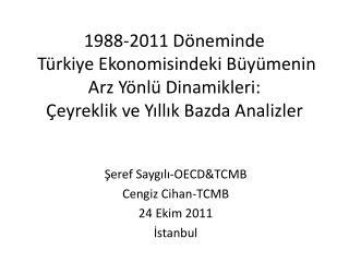 Şeref Saygılı-OECD&TCMB Cengiz Cihan-TCMB 24 Ekim 2011  İstanbul
