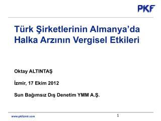 Türk Şirketlerinin  Almanya'da  Halka  Arzının Vergisel Etkileri