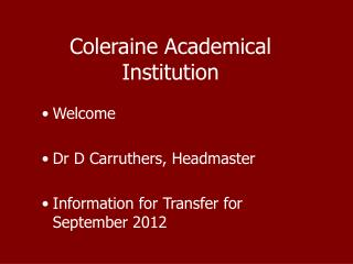 Coleraine Academical Institution