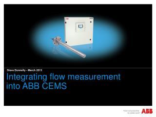 Integrating flow measurement  into ABB CEMS