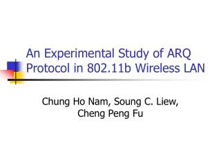 An Experimental Study of ARQ Protocol in 802.11b Wireless LAN