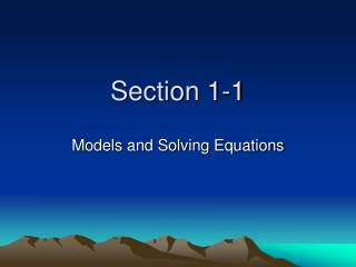Section 1-1