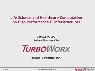 Life Science and Healthcare Computation on High Performance IT Infrastructures