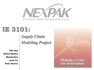 IE 3101: Supply Chain Modeling Project