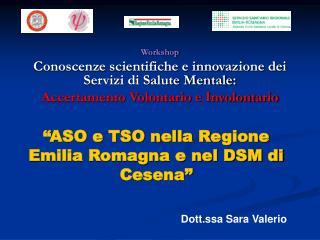 Workshop Conoscenze scientifiche e innovazione dei Servizi di Salute Mentale: