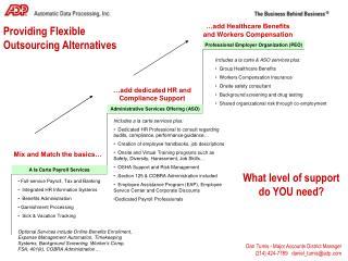Providing Flexible Outsourcing Alternatives