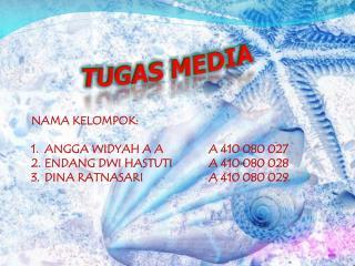 NAMA KELOMPOK: ANGGA WIDYAH A AA 410 080 027 ENDANG DWI HASTUTIA 410 080 028