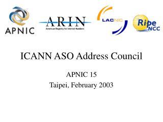 ICANN ASO Address Council