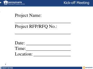 Kick-Off Meeting