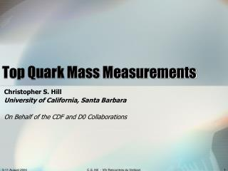 Top Quark Mass Measurements