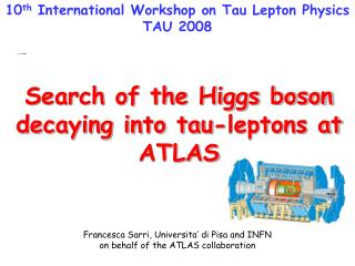 Search of the Higgs boson decaying into tau-leptons at ATLAS