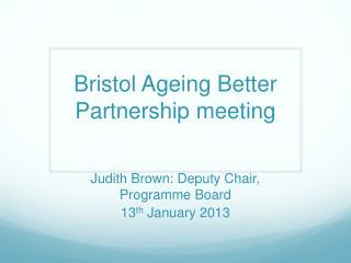 Bristol Ageing Better Partnership meeting