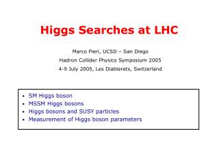 Higgs Searches at LHC