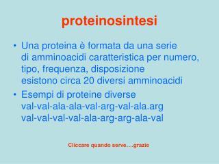 proteinosintesi