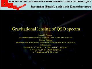 Gravitational lensing of QSO spectra